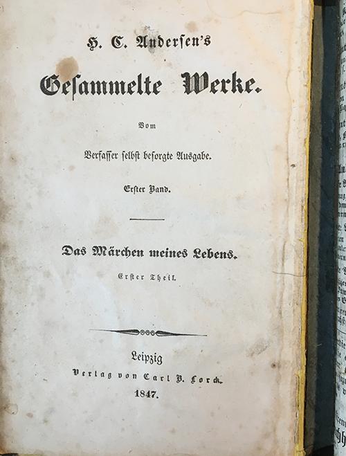 Hans Christian Andersen, Das Märchen meines Lebens, 1. Teil.