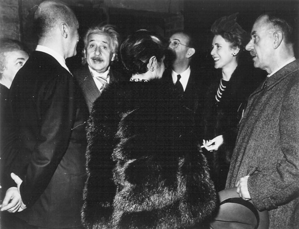 Gruppenphoto u. a. mit Thomas Mann